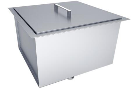 B-SK20 20 inch  x 12 inch  Over/Under Single Basin Sink with Cover in Stainless