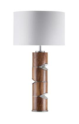 1010859 Pacman Table Lamp in Caribbean Walnut  Nickel