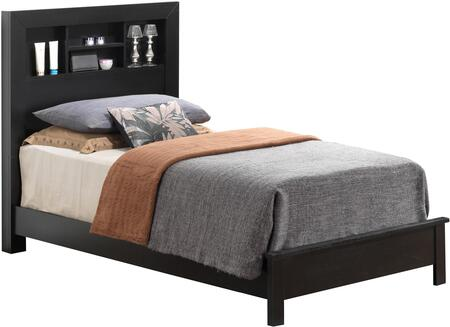 G2450B-TB2 Twin Bed with Storage Headboard  and Clean-Line Design in