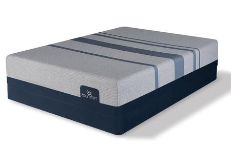 iComfort Foam 500801268-FMFLP Set with Blue Max 1000 Cushion Firm Full Mattress + Low Profile