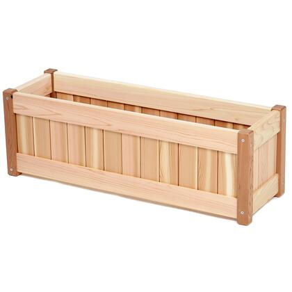 PL30 30 Planter Box with Mortised Wall Panels  Removable Bottom  Sanded Finish and Hand