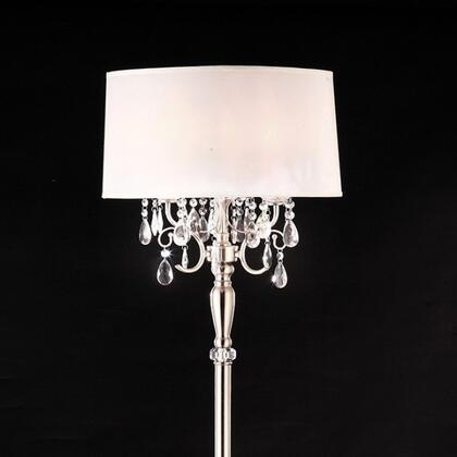 Sophy L95109F Floor Lamp with Crystal Lamp  Metal Base  Shade size: 18