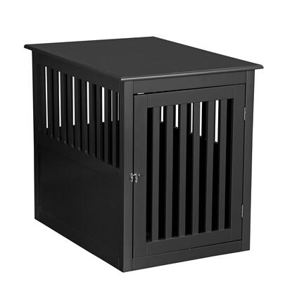 PH1005-Black Pet Crate 9 inch  W 25 inch  H End Table In
