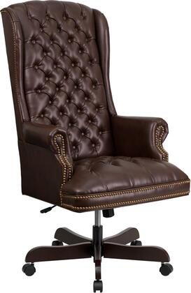 CI-360-BRN-GG High Back Traditional Tufted Brown Leather Executive Office