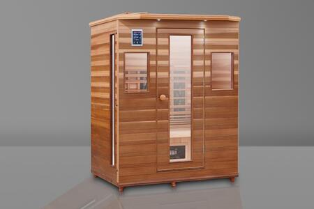HM-ASE-3-CD-CL 60.5 inch  Infrared Sauna with Ergonomic Bench  Trulnfra Heater  Low EMF Tecoloy Heaters  Low EMF Trulnfa Heaters  Low Back Heater  Floor Heater and