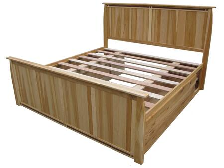 ADANT5171 Adamstown Hand Crafted Panel Bed with Storage  Full Extension Metal Ball Bearing Drawer Glides and the Storage Box has English Dovetailed Front to