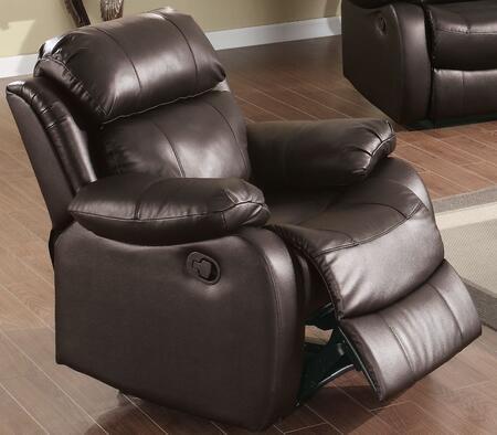 WE9918C-BR Weston 39 inch  Recliner Chair in