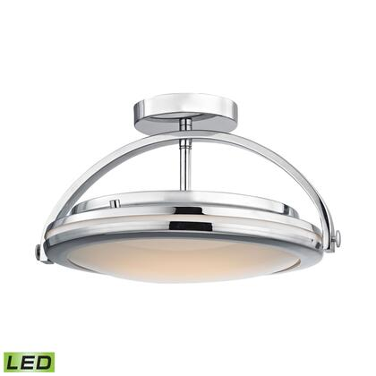 FML801-PW-15 Quincy 1 Light LED Semi Flush In Chrome And Paint White
