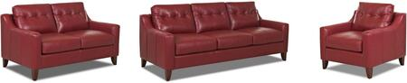 Audrina Collection LT31600KL3PCSTLARMKIT1 3-Piece Living Room Sets with Stationary Sofa  Loveseat and Living Room Chair in Durango Strawberry and Casper