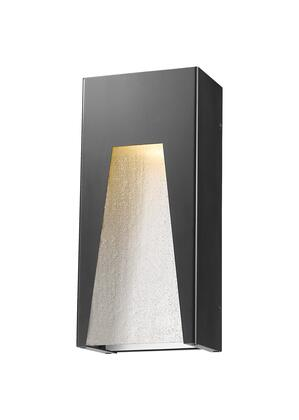 Millenial 561M-BK-SL-SDY-LED 6 1 Light Outdoor Wall Light Contemporary  Metropolitan  Modernhave Aluminum Frame with Black Silver finish in Clear