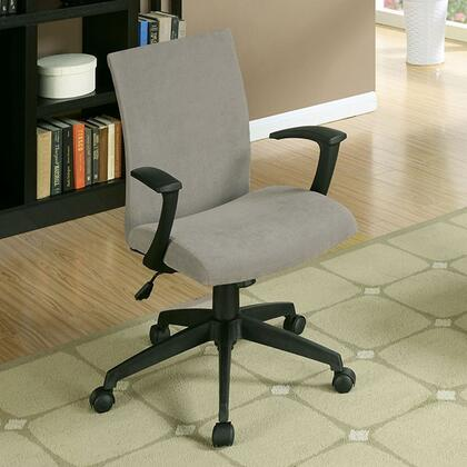 Crofter CM-FC635GY Office Chair with Swivel Bar Stool with Armrests  Fabric Seat  Height Adjustable in