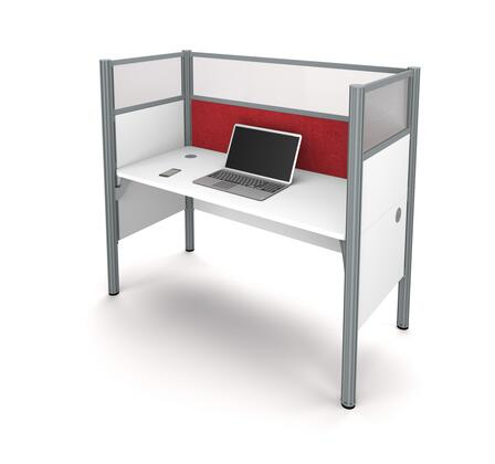 100871DR-17 Pro-Biz Simple workstation in White with Red Tack