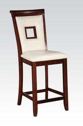 71607 Set of 2 Oswell Counter Height Chairs with PU Leather Upholstery in Cherry