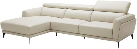 EK-LK385 Collection EK-LK385R-LG 2-Piece Sectional Sofa with Left Arm Facing Chaise and Right Arm Facing Sofa in Light