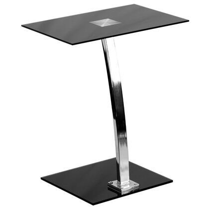 NAN-LT-07-GG Laptop Computer Desk with Silk Black Tempered Glass