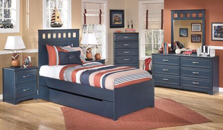 Leo Twin Bedroom Set with Panel Bed  Dresser  Nightstand and Mirror in