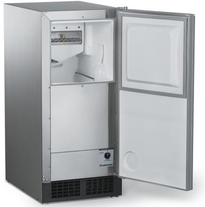 DCE33A-1SSD 15 inch  Ice Machine with 30 lbs. Daily Ice Production  26 lbs. Storage Capacity  Clear Odorless Ice  Gravity Drain  and Auto Shut-off  in Panel