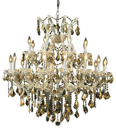 2800D36C-GT/RC 2800 Maria Theresa Collection Hanging Fixture D36in H36in Lt: 24+1 Chrome Finish (Royal Cut Golden