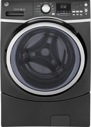 GFW450SPKDG 27 Energy Star Qualified Front Load Washer with 4.5 cu. ft. Capacity  10 Wash Cycles  1300 RPM Spin Speed  Steam  Stain Removal Guide