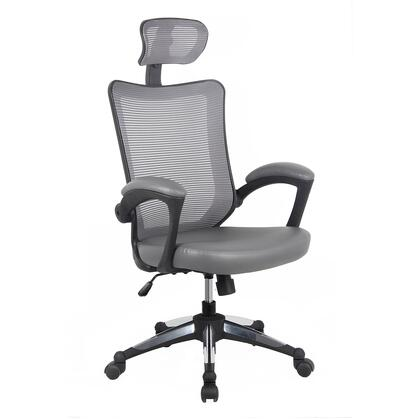 RTA-80X3-GRY High-Back Mesh Executive Office Chair With Headrest. Color:
