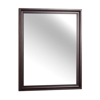 SHEM2632 26 inch W x 32 inch H Shawn Collection Matching Mirror with Pre-attached Mounting Hooks in a Tobacco