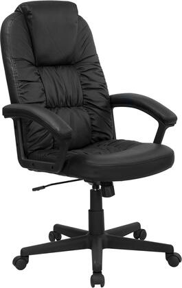 BT-983-BK-GG High Back Black Leather Executive Swivel Office