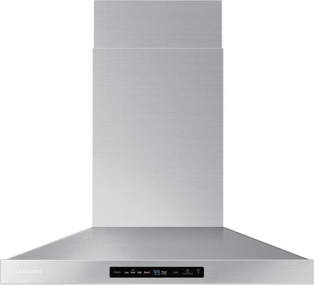 "NK30K7000WS 30"" Wall Mounted Range Hood with 600 CFM  LED Lighting  Baffle Filters and Wifi Hood Connectivity  in Stainless"
