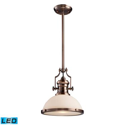 66143-1-LED Chadwick 1-Light Pendant in Antique Copper -
