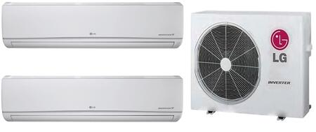 Dual Zone Mini Split Air Conditioner System with 18000 BTU Cooling Capacity  2 Indoor Units  and Outdoor 730292