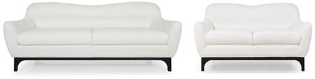 Wollo Collection 35703DO1188SL 2-Piece Living Room Set with Sofa and Loveseat in
