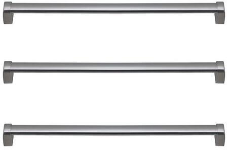 Set of 3 Door Handles  in Stainless Steel  Professional