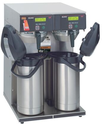 38700.0013 AXIOM-TWIN-APS Coffee Brewer with BrewLOGIC  Energy-saver Mode  Hot Water Faucet  SplashGard  in Stainless