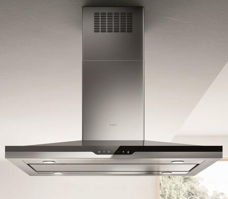 Elica ESI636SS Stoney 600 CFM 36 Inch Wide Island Range Hood with HUSH System and CFM Reduction System