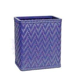 S423CB Elegante Collection Decorator Color Wicker Wastebasket in Coastal