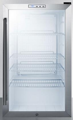Summit SCR486LCSS Beverage Refrigeration, Glass/Stainless-Steel