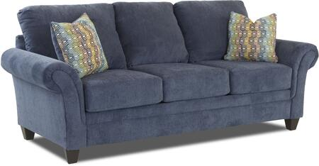 Hubbard Collection E50400-S-MJ-AC 94 inch  Sofa with Fabric Upholstery  Flared Arms and Tapered Block Feet in