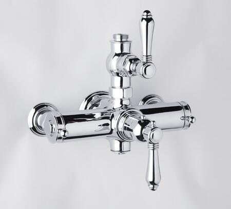 A4917lmstn Country Bath Collection Exposed Thermostatic Mixer With Metal Levers: Satin