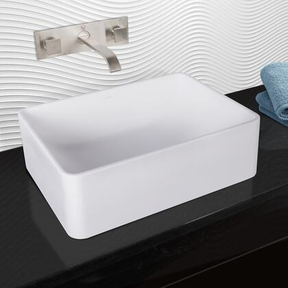 VGT1026 VIGO Caladesi Composite Vessel Sink and Titus Brushed Nickel Finish Dual Lever Wall Mount