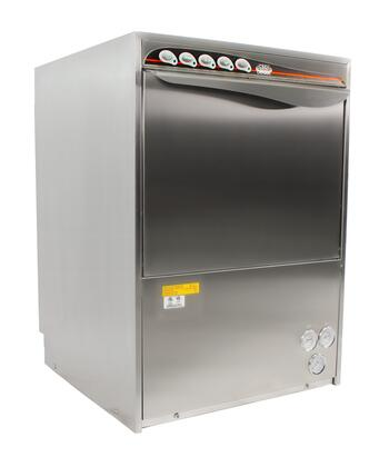 UC50E High Temperature Undercounter Commercial Dishwasher with 30 Racks Capacity  2.7 kW Wash Tank Heater  Upper and Lower Wash Arms  Built-In Detergent and