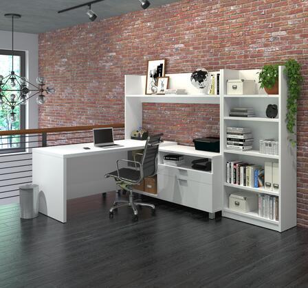 120896-17 Pro-Linea L-Desk with Bookcase in