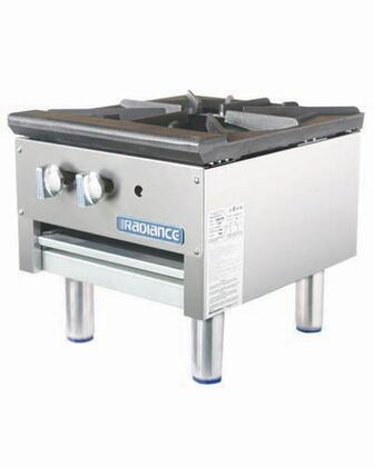 TASP18S Single Stock Pot Stove with Stainless Steel Construction  79000 BTU Burner  Heat Resistant Knobs  Stainless Steel Pilots and Removable Crumb Tray: