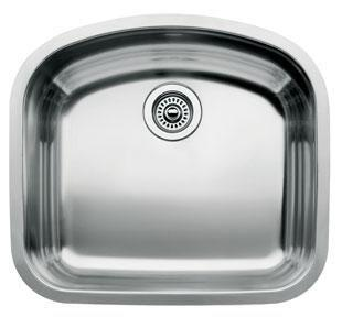 440248 Blancowave Stainless Steel Single Bowl 8 Deep Kitchen