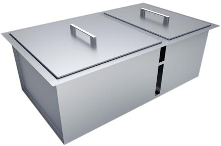B-SK34 34 inch  x 12 inch  Over/Under Single Basin Sink with Cover in Stainless
