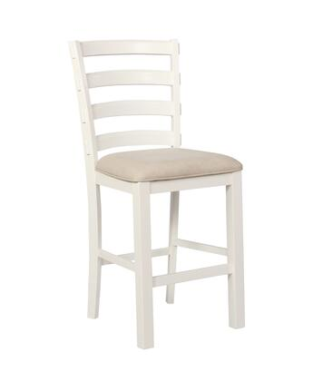 Chandler Collection D1041B17W 29 inch  Barstool with Polyester Fabric Seat  Rubberwood Construction and 275 lbs. Weight Capacity in