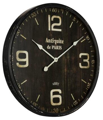 40856 Jedrak Clock in Aged Black Finish with Gray