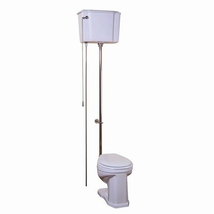 2-413SN Victoria High Tank Toilet 1.6gpf  White/Brushed