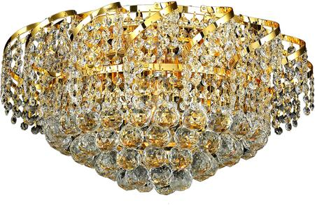 VECA1F20G/SS Belenus Collection Flush Mount D:20In H:12In Lt:8 Gold Finish