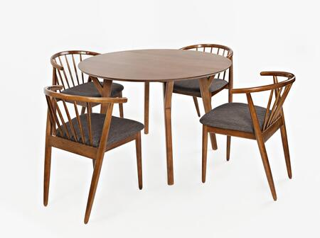 Copenhgen Collection 176944SET 5 PC Dining Room Set with Dining Table + 4 Dining Chairs in Walnut