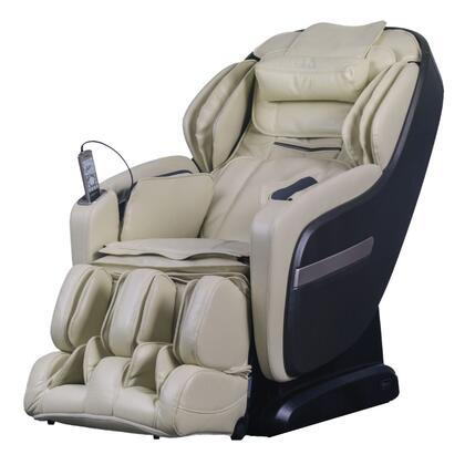 OS-Pro Summit CREAM Massage Chair with S L Combo Massage Track  Dual Foot Roller Massage  Air Intensity Adjustment  USB Charging  Space Saving Technology and