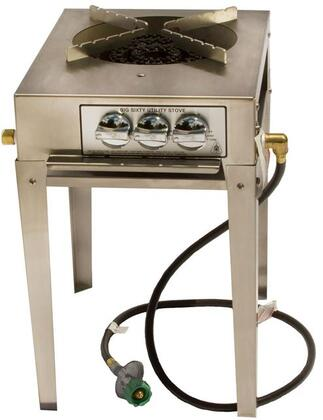 SSBIG60IP 60 000 BTU 3 Ring Single Burner Utility Stove in: Stainless